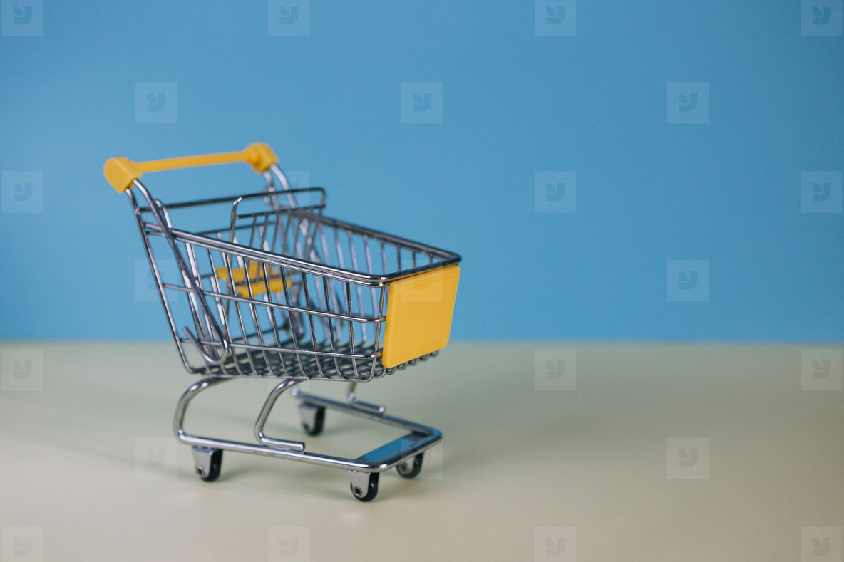 Tiny toy shopping cart 03