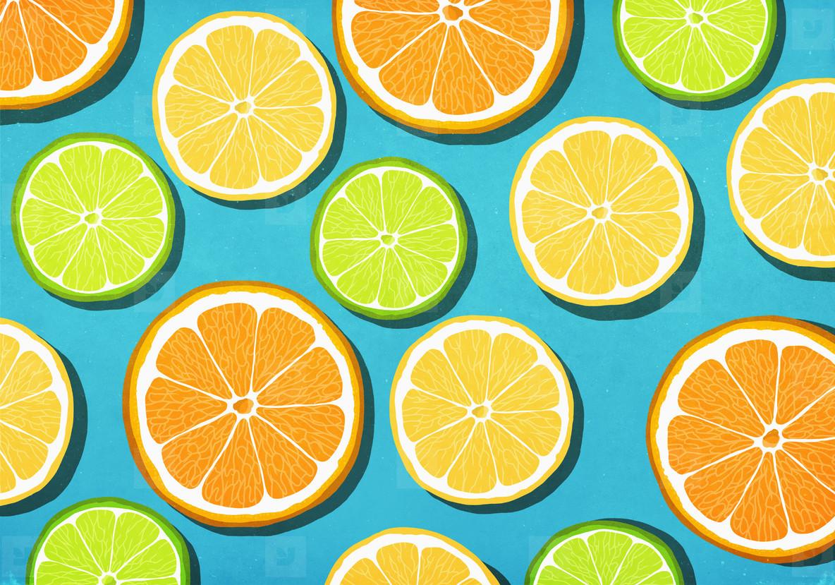 Vibrant citrus slices
