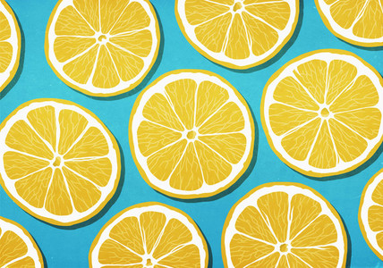 Vibrant yellow lemon slices