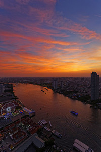 Sunset over Chao Praya River