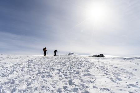People doing cross country skiing in Sierra Nevada