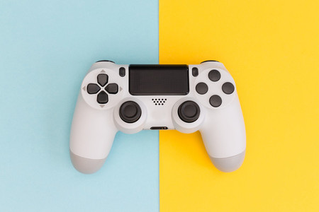 Video games white gaming controller