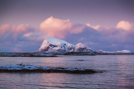 Dusk in winter Norway