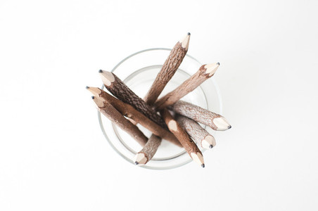 Wood Pencils from the Top