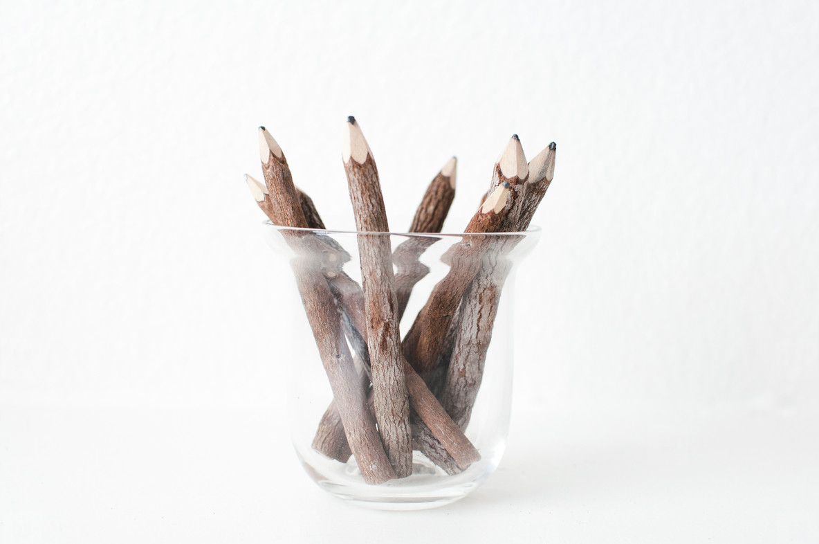 Wood Pencils Centered