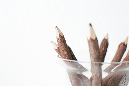 Wood Pencils to the Right