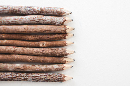 Wooden Pencils from the Left