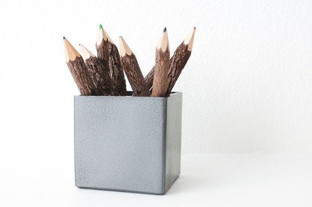 Colored Pencils in a Vase
