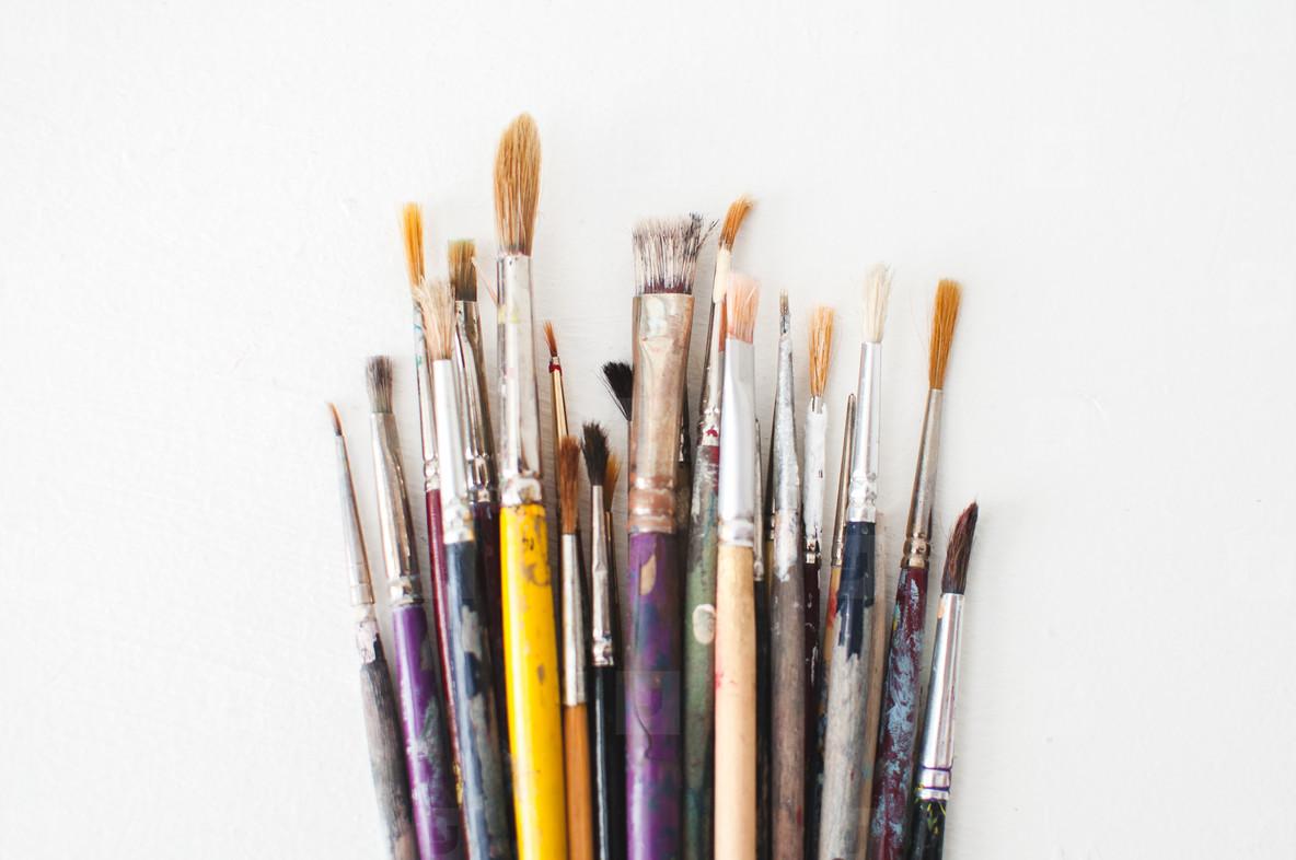Used Paintbrushes