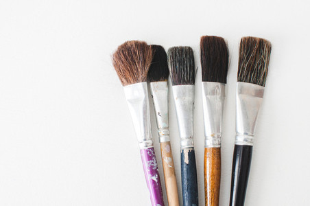Five Old Loved Paintbrushes