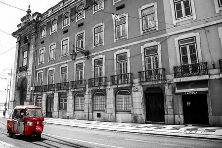 Tuk Tuk in the streets of lisbon