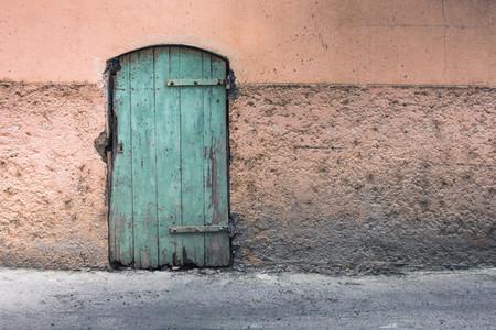 Abandoned house door