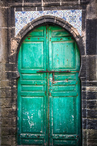 Ancient Green Door