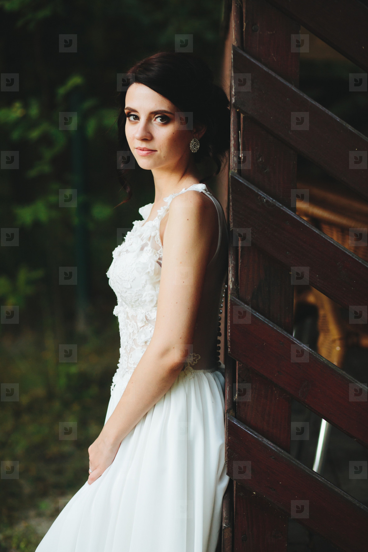 bride poses for the camera