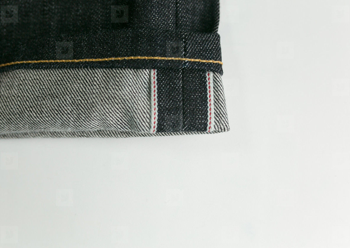 Selvedge denim jeans closeups