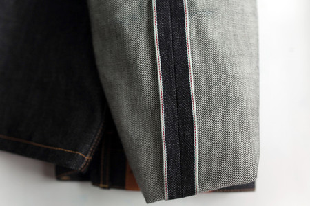 Selvedge denim jeans closeups