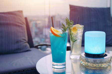 Tasty colorful summer cocktail