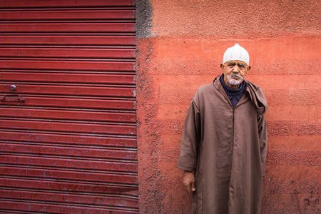 Curious Frowing man of Morocco