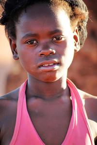 Sad African girl