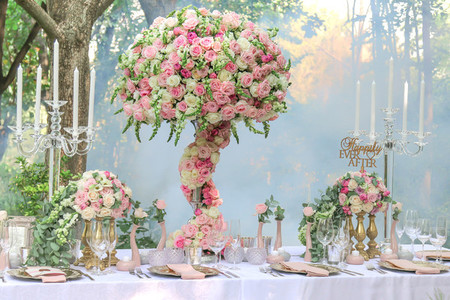 Event centrepiece and table 4