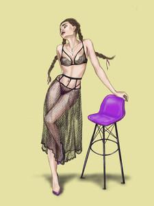 Fashion Girl Illustration 02
