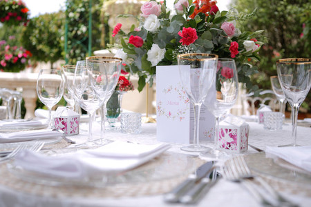 Event centrepiece and table 1