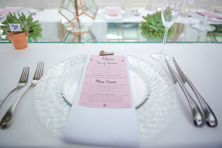 Event centrepiece and table 14