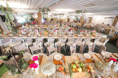 Event centrepiece and table 10