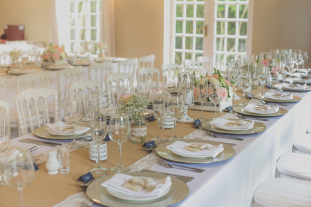 Event centrepiece and table 8
