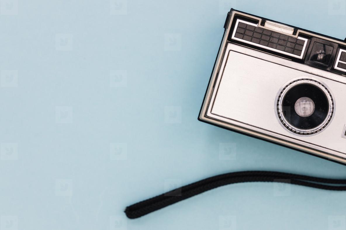 Silver retro vintage film camera