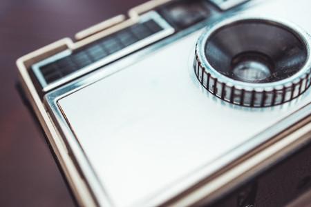 Silver retro vintage camera