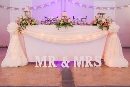 Event centrepiece and table 15