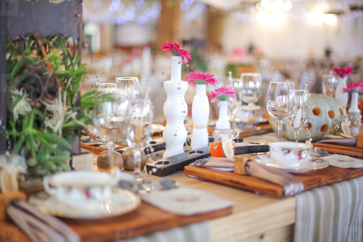 Event centrepiece and table 13