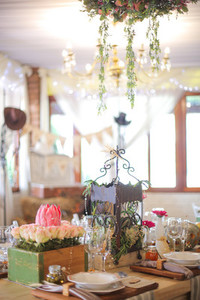 Event centrepiece and table 12