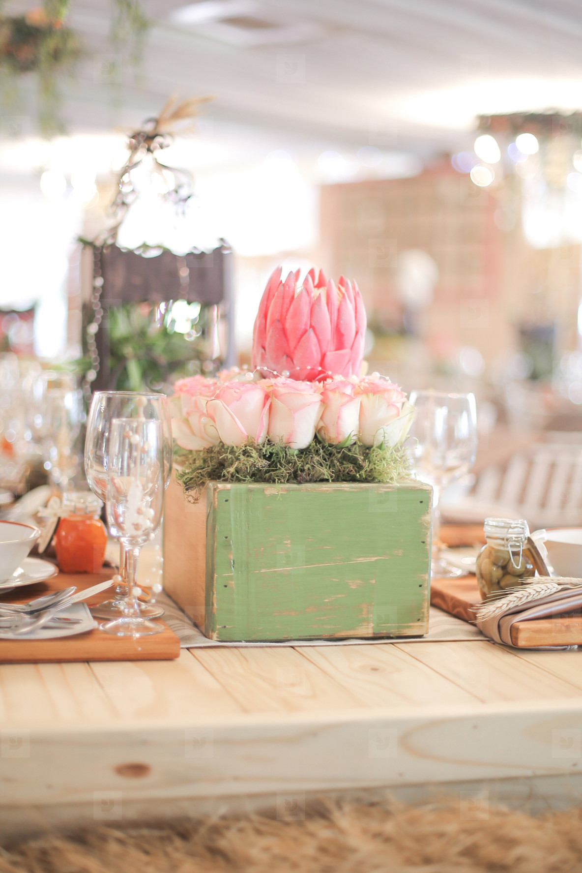Event centrepiece and table 9