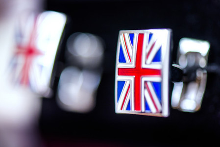 Groom Cufflinks UK Flag