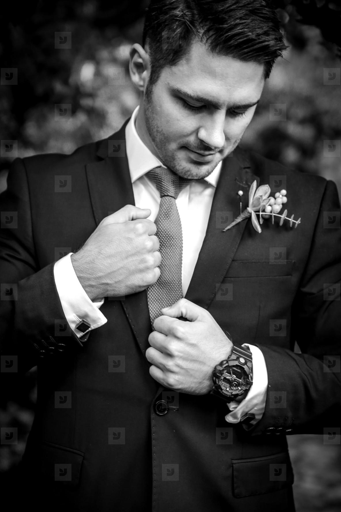 Groom on his Wedding Day 20