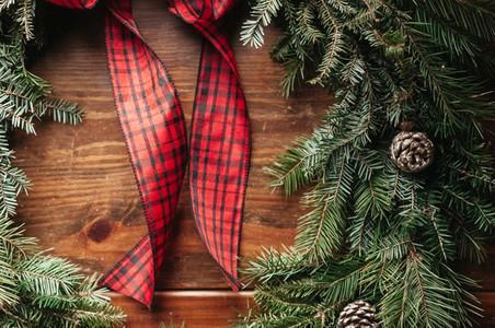Christmas Pine Cone Wreath