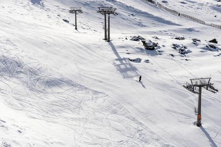 Ski resort of Sierra Nevada in winter  full of snow