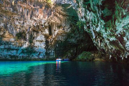 Melissani Cave Kefalonia Greece