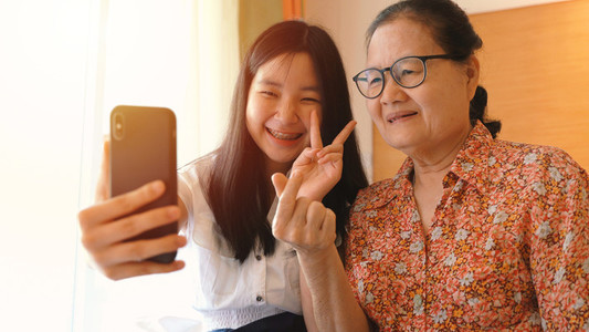 grandmother and her niece