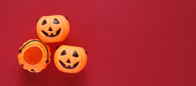 Flat lay style of halloween