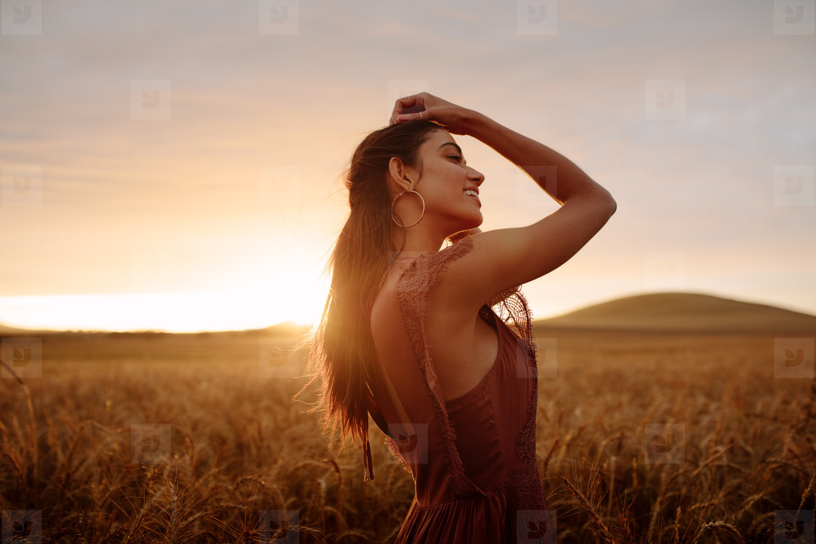 Woman enjoying a day in nature