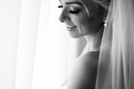 Morning portrait of beautiful bride