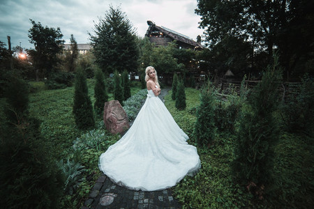 Beautiful bride in the park