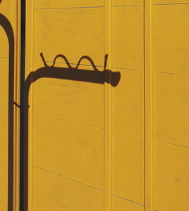 Yellow concrete fence