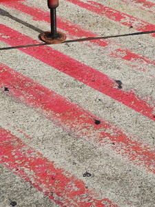 Red line on as asphalt street