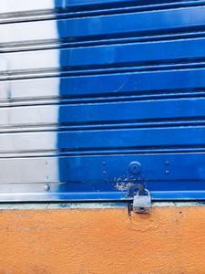 Locked   Rolling steel door