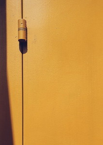 Yellow door hingers