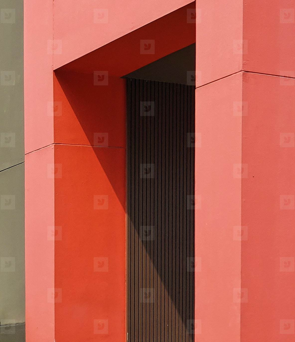 Paint red wall and door